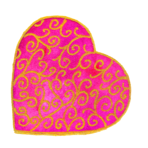 Pink And Gold Heart