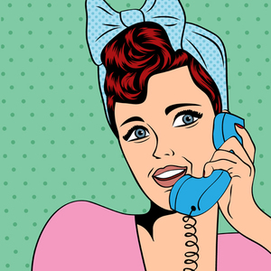 Retro Woman On Telephone
