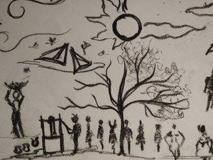 Sketchy Things Village Art