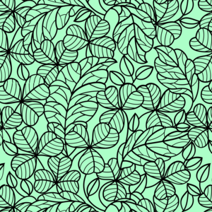 Floral Pattern On Green 2
