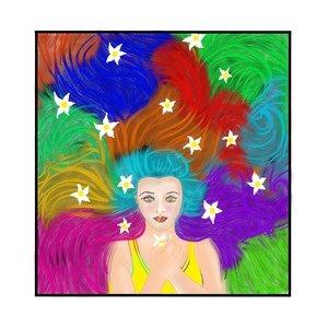 Girl With Multicolour Hair