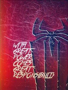 Spiderman Quote Square Pattern Bright