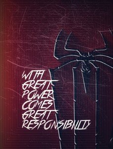 Spiderman Quote Square Pattern Dark