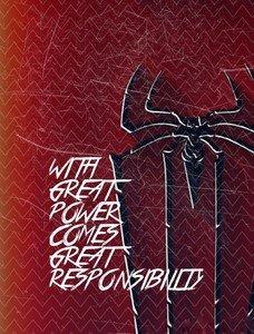 Spiderman Quote Zigzag Patterm