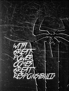 Spiderman Quote Zigzag Black And White