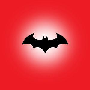 Batman On Red