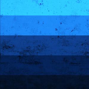 Blue Shade Texture Print