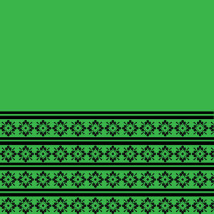Floral Pattern In Green