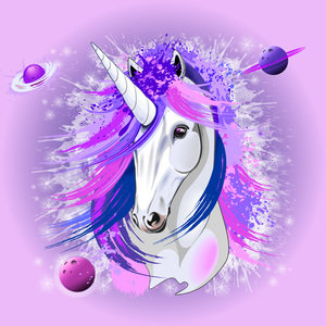 Unicorn Spirit Pink And Purple Mythical Creature