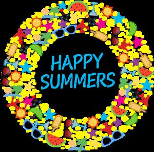 Happy Summers On Black