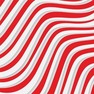 Red And White Waves