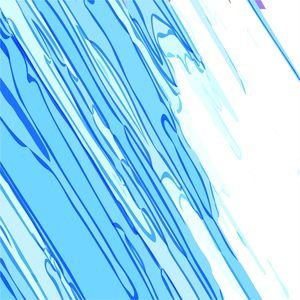 Blue White Strokes