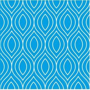 Pattern On Cool Blue