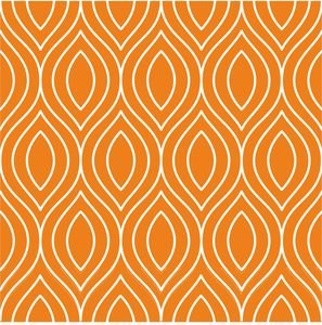 Pattern On Orange