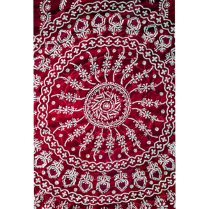 Chikankari Design In Red