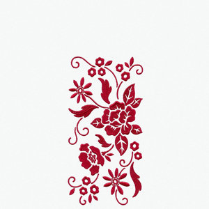 Red Embroidery Print