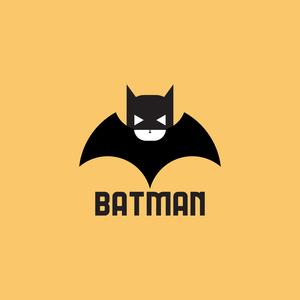 Black And White Batman On Yellow