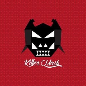 Black Killer Mask On Red