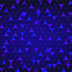 Abstract Triangle Blue
