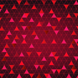 Abstract Triangle Red