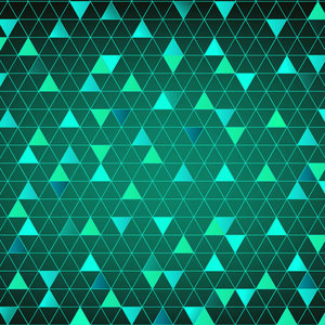 Abstract Triangle Sea Green