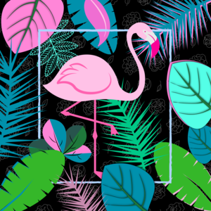 Flamingo Pattern 2