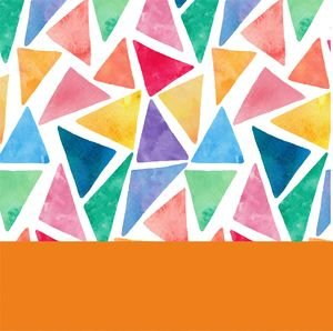 Water Color Orange Triangles