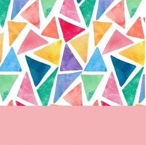 Water Color Pink Triangles