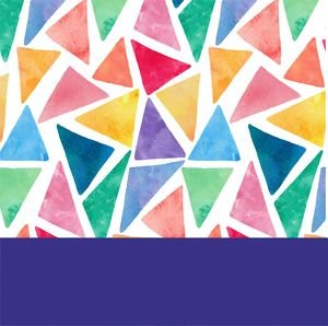 Water Color Purple Triangles