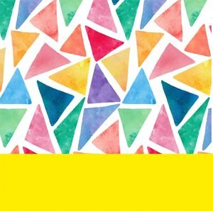 Water Color Yellow Triangles