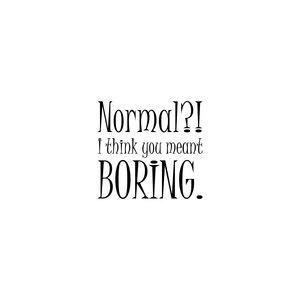 Normal Mean Boring