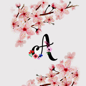 Letter A Watercolor