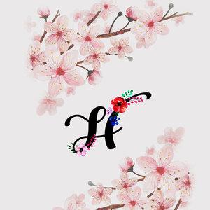 Letter H Watercolor