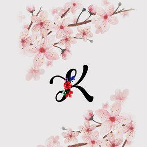 Letter K Watercolor