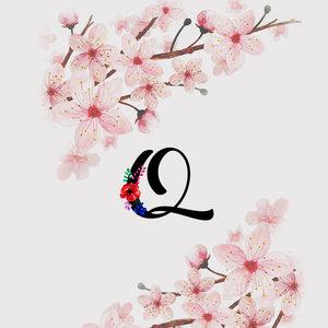 Letter Q Watercolor