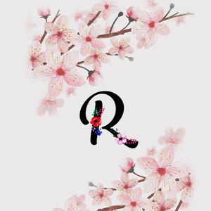 Letter R Watercolor