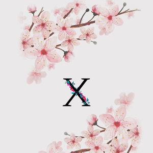Letter X Watercolor