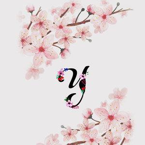Letter Y Watercolor