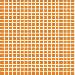 Orange Small Checkers