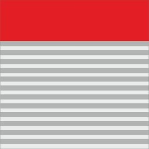 Classy Red Strips Block