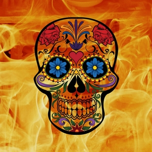 Horror Skull On Fire
