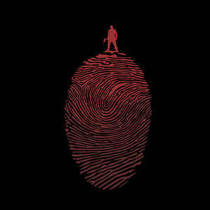 Man With Finger Print