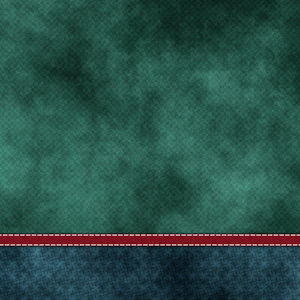 Green Texture Print With Red Strip