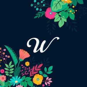 Floral W