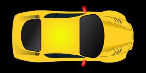 Yellow Car Racing