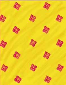 Red On Yellow Pattern