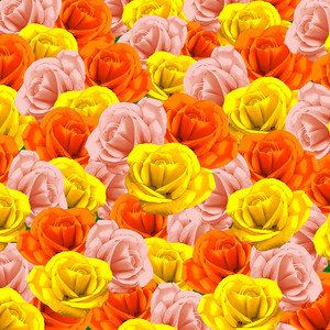 Roses Pastel Colors Floral Collage