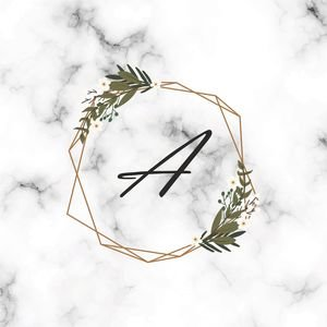 Classy Letter A On Marble Print