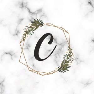 Classy Letter C On Marble Print