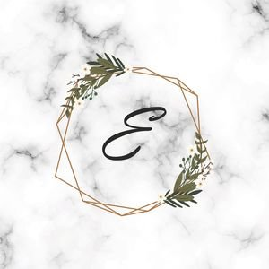 Classy Letter E On Marble Print
